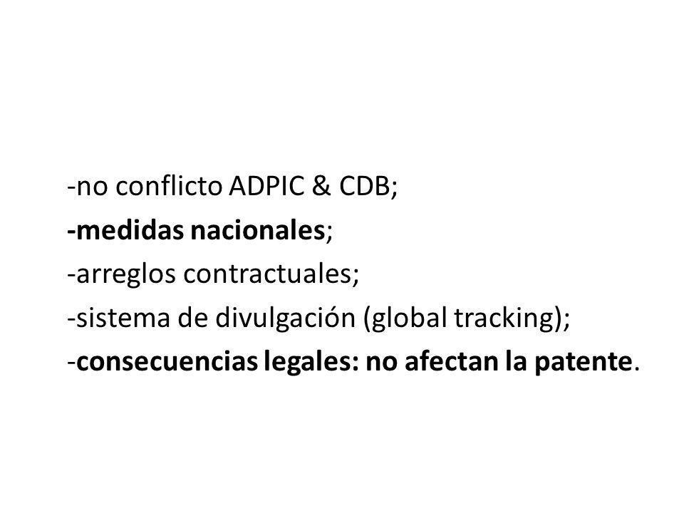 -no conflicto ADPIC & CDB;