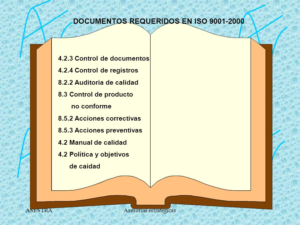DOCUMENTOS REQUERIDOS EN ISO 9001-2000