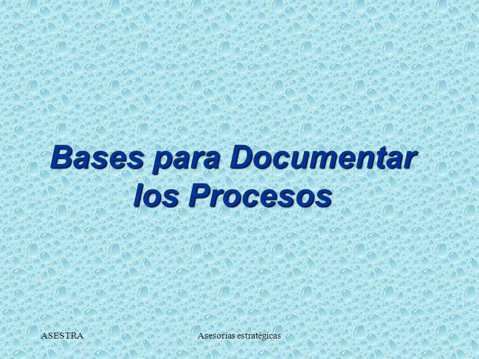 Bases para Documentar los Procesos