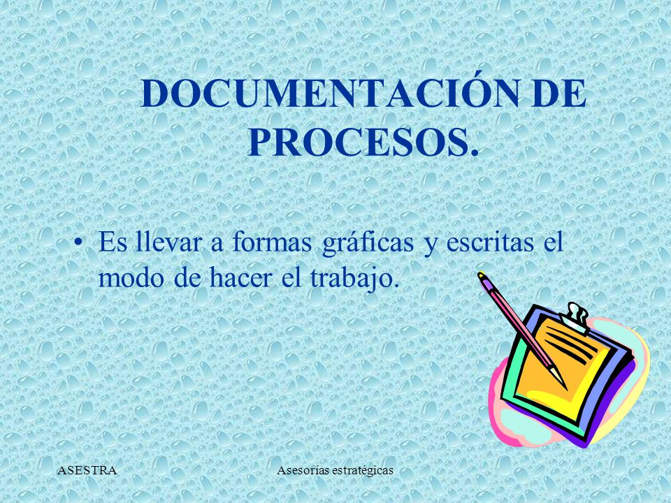 DOCUMENTACIÓN DE PROCESOS.