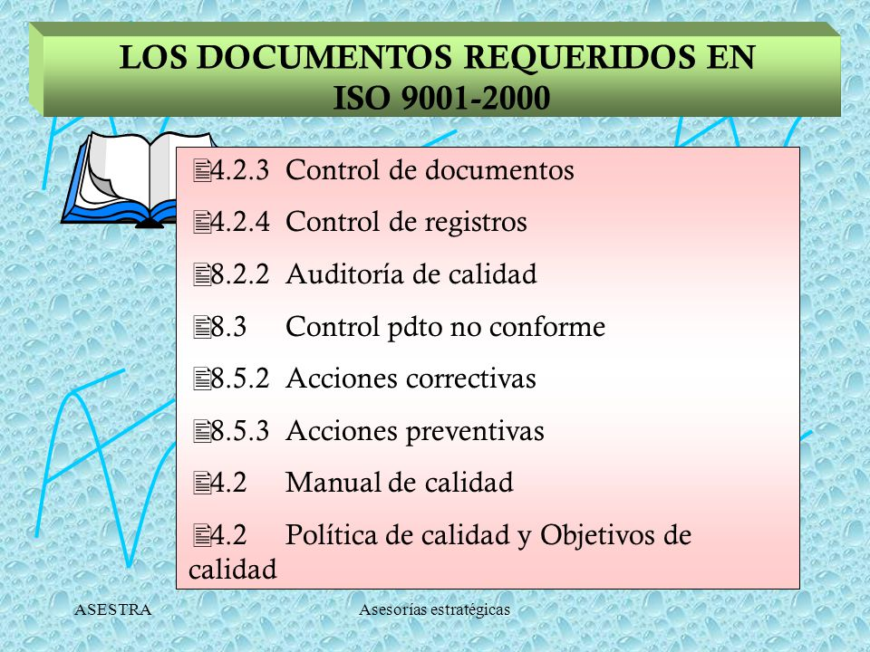 LOS DOCUMENTOS REQUERIDOS EN