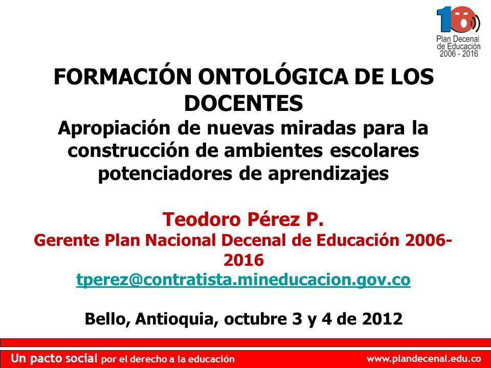 FORMACIÓN ONTOLÓGICA DE LOS DOCENTES