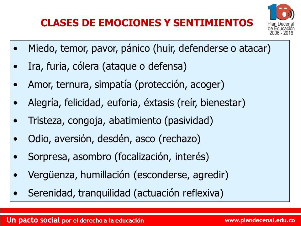 CLASES DE EMOCIONES Y SENTIMIENTOS