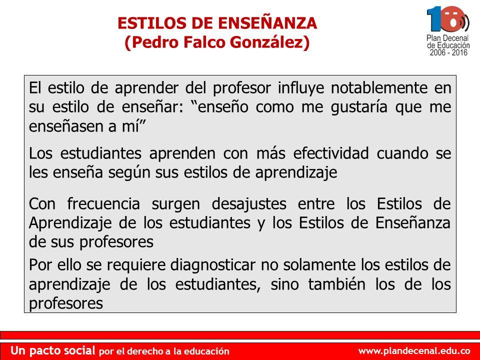ESTILOS DE ENSEÑANZA (Pedro Falco González)