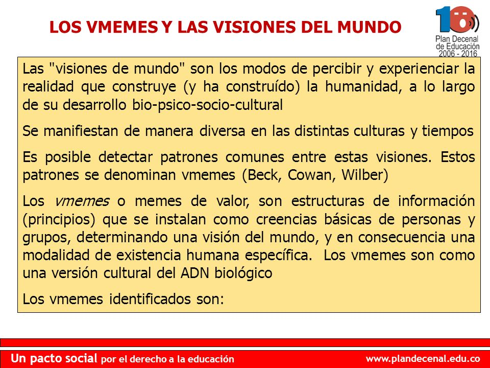 LOS VMEMES Y LAS VISIONES DEL MUNDO