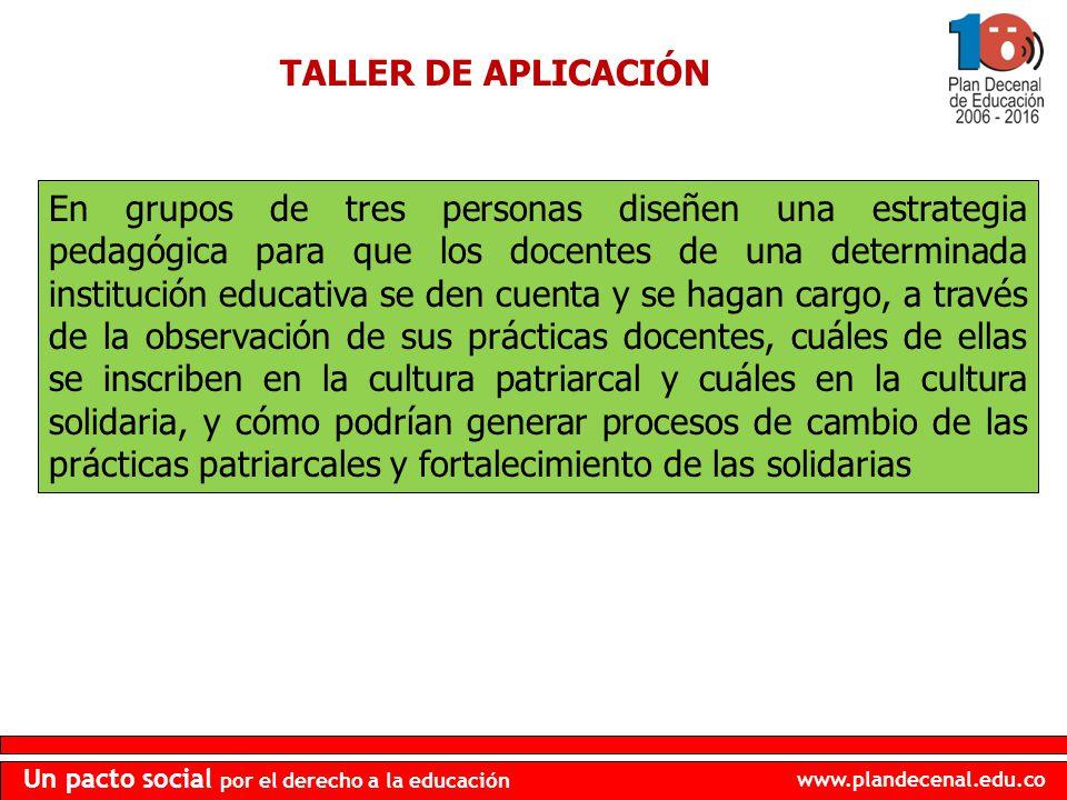 TALLER DE APLICACIÓN