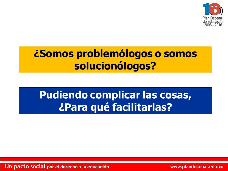 ¿Somos problemólogos o somos solucionólogos