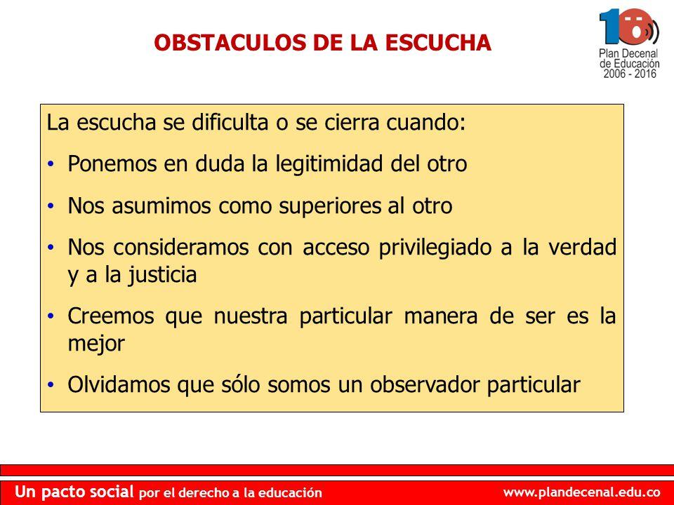 OBSTACULOS DE LA ESCUCHA