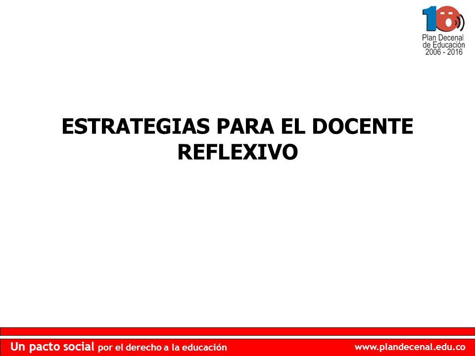ESTRATEGIAS PARA EL DOCENTE REFLEXIVO