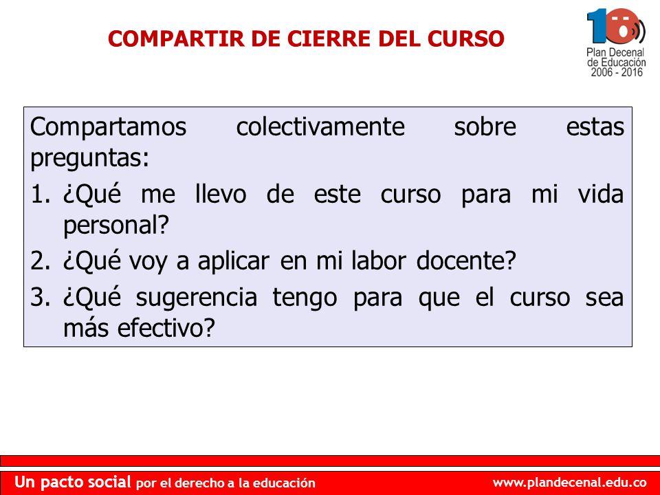 COMPARTIR DE CIERRE DEL CURSO