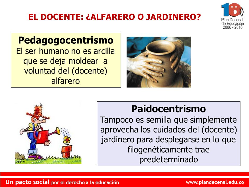 EL DOCENTE: ¿ALFARERO O JARDINERO