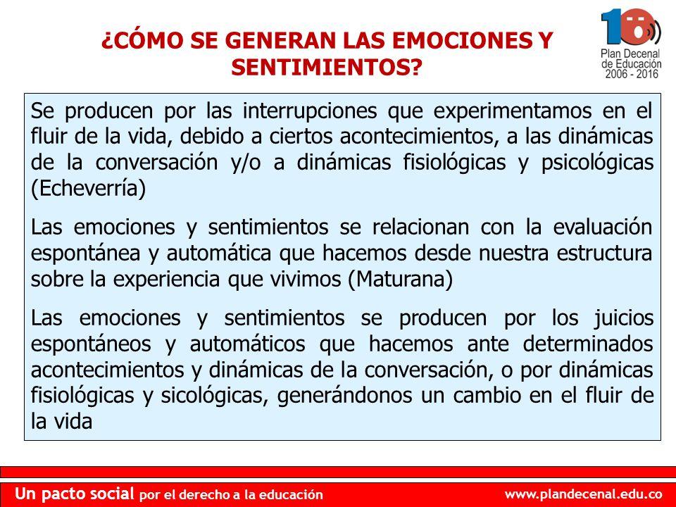¿CÓMO SE GENERAN LAS EMOCIONES Y SENTIMIENTOS