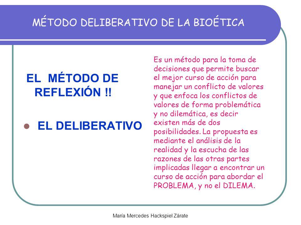 MÉTODO DELIBERATIVO DE LA BIOÉTICA