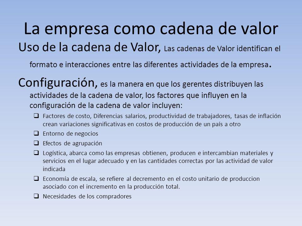 La empresa como cadena de valor