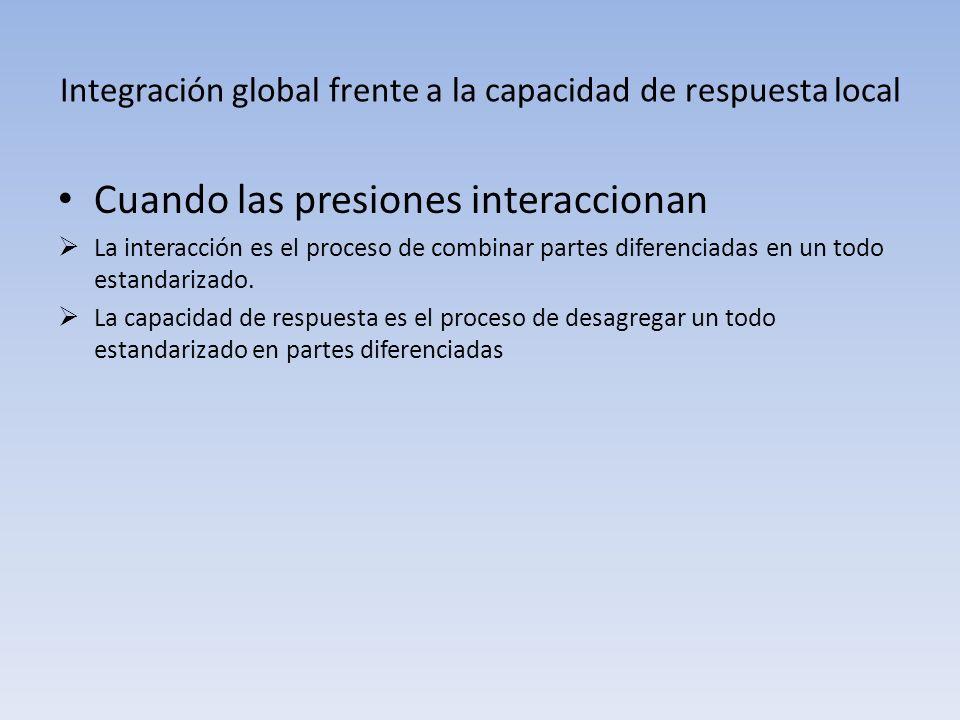 Integración global frente a la capacidad de respuesta local