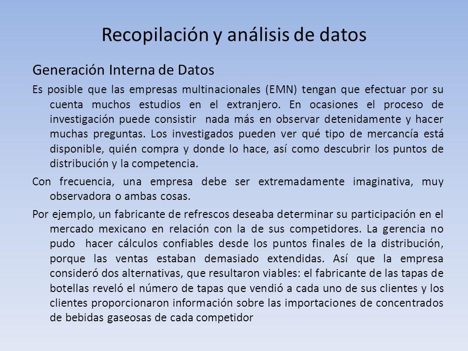 Recopilación y análisis de datos