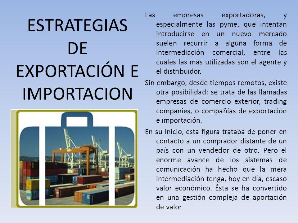 ESTRATEGIAS DE EXPORTACIÓN E IMPORTACION