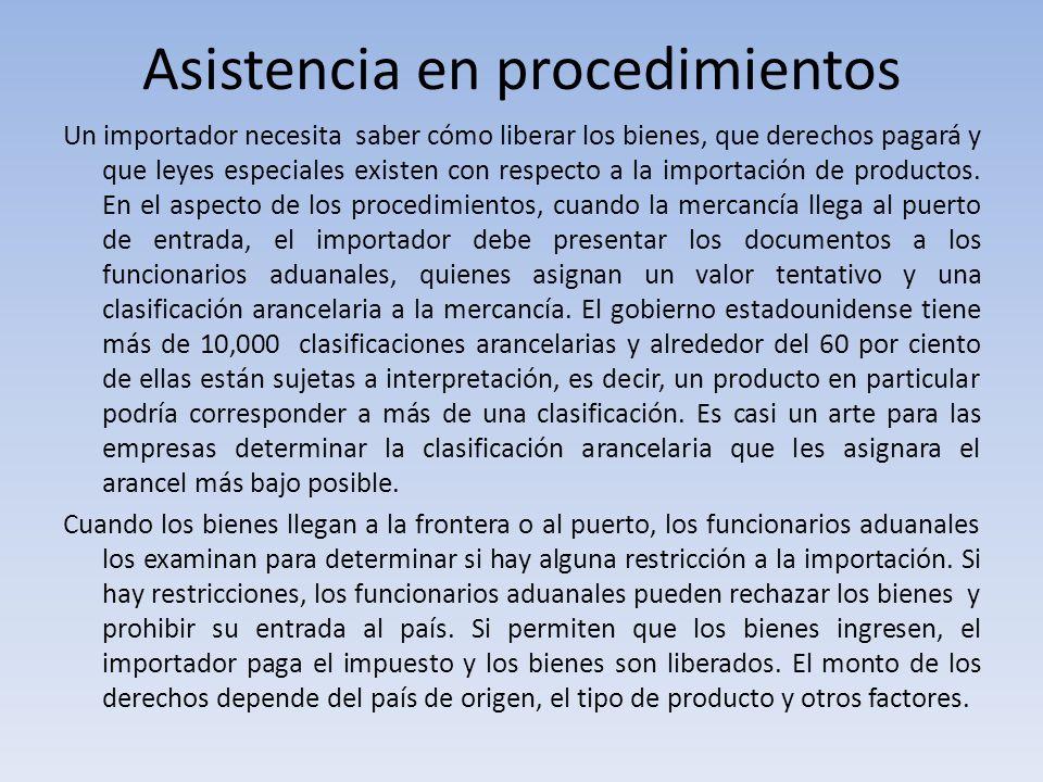 Asistencia en procedimientos