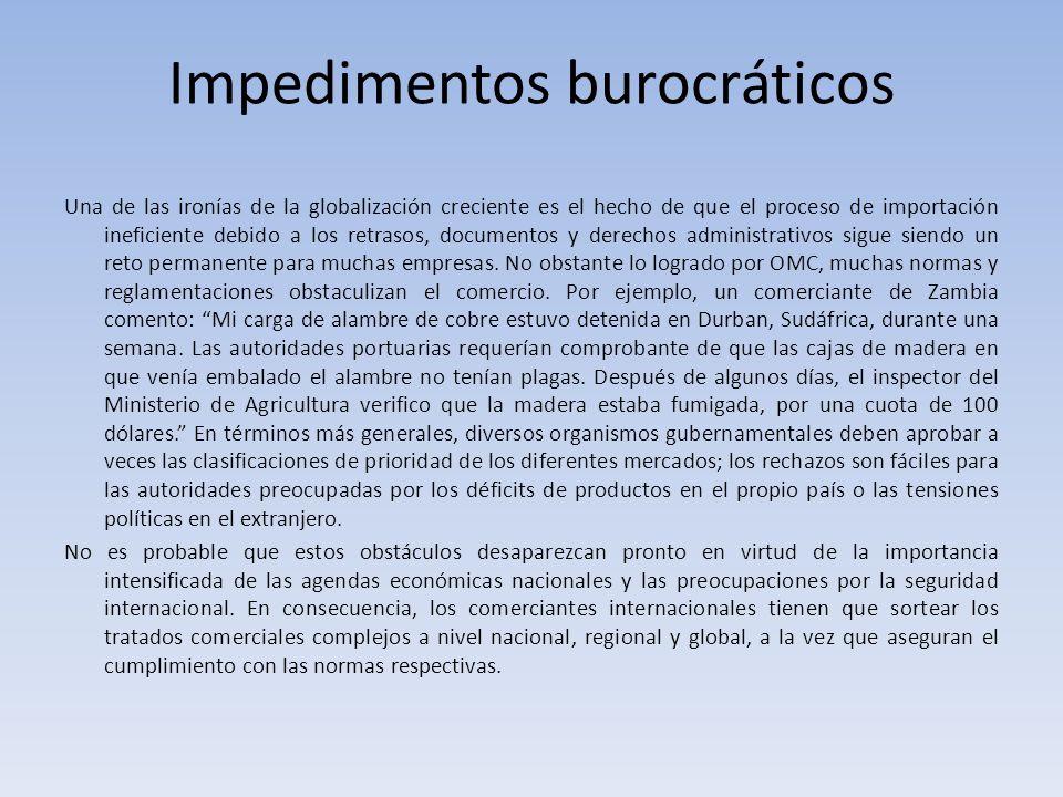 Impedimentos burocráticos