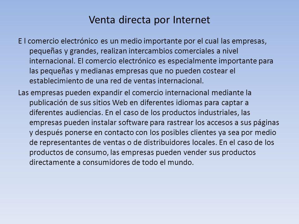 Venta directa por Internet