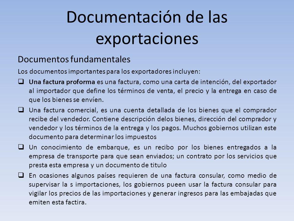 Documentación de las exportaciones