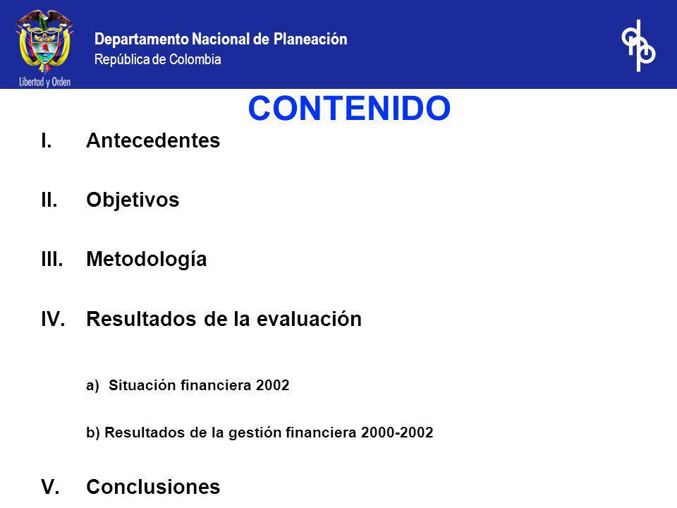 CONTENIDO a) Situación financiera 2002 Antecedentes Objetivos