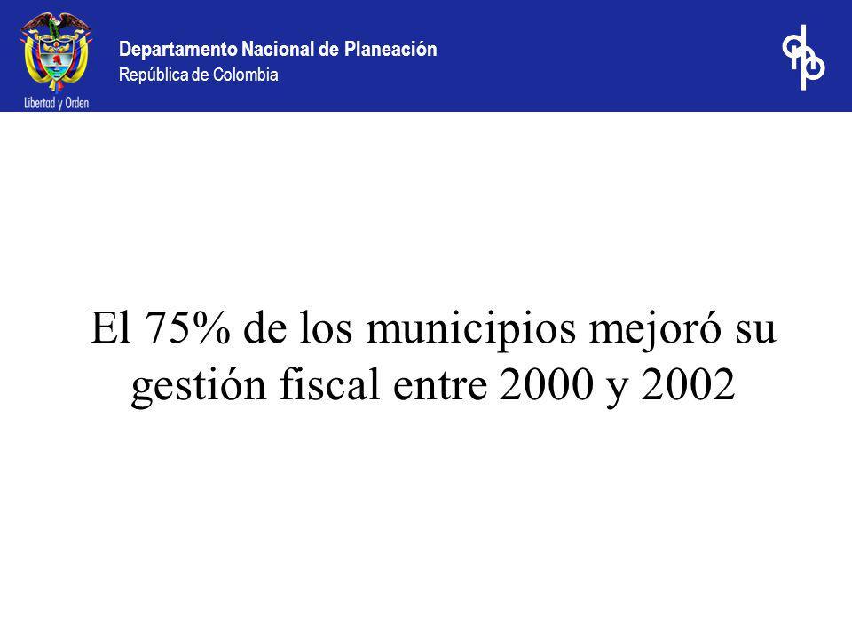 El 75% de los municipios mejoró su gestión fiscal entre 2000 y 2002