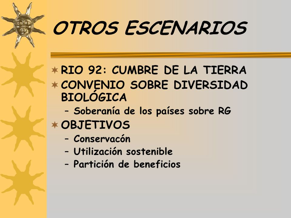 OTROS ESCENARIOS RIO 92: CUMBRE DE LA TIERRA