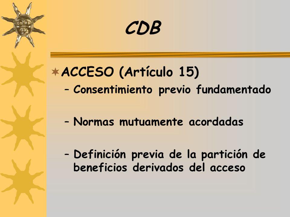 CDB ACCESO (Artículo 15) Consentimiento previo fundamentado