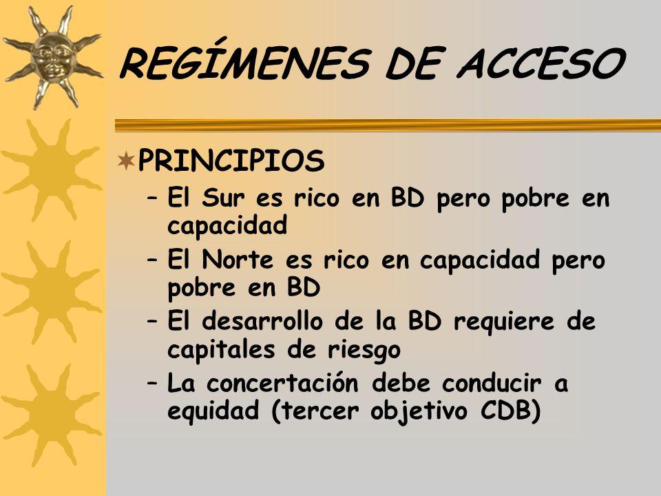 REGÍMENES DE ACCESO PRINCIPIOS
