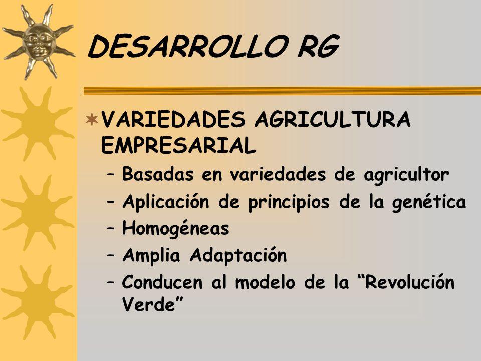 DESARROLLO RG VARIEDADES AGRICULTURA EMPRESARIAL