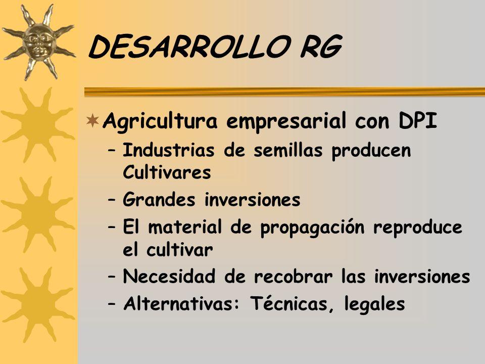 DESARROLLO RG Agricultura empresarial con DPI
