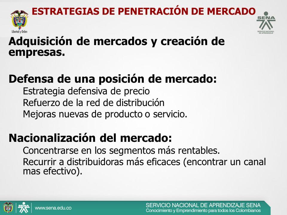 ESTRATEGIAS DE PENETRACIÓN DE MERCADO