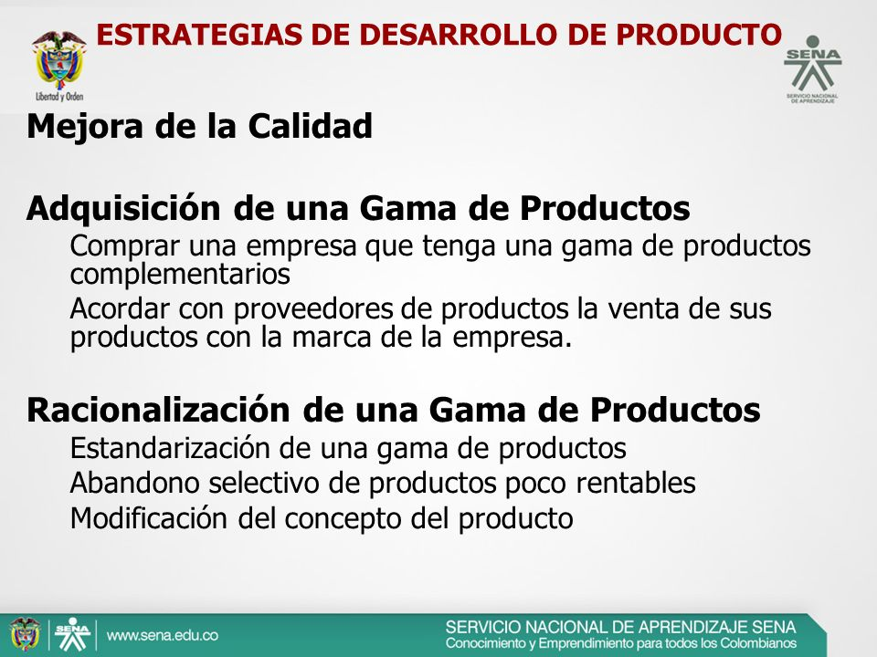ESTRATEGIAS DE DESARROLLO DE PRODUCTO