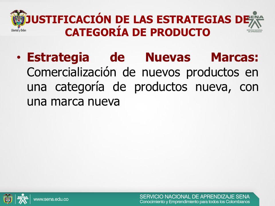 JUSTIFICACIÓN DE LAS ESTRATEGIAS DE CATEGORÍA DE PRODUCTO