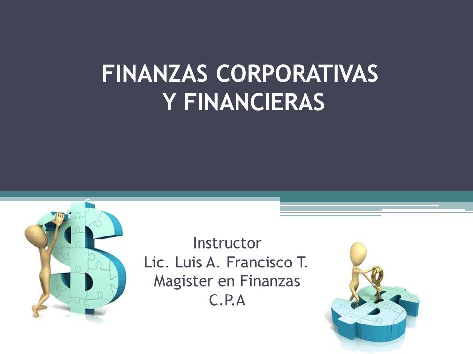 FINANZAS CORPORATIVAS Y FINANCIERAS