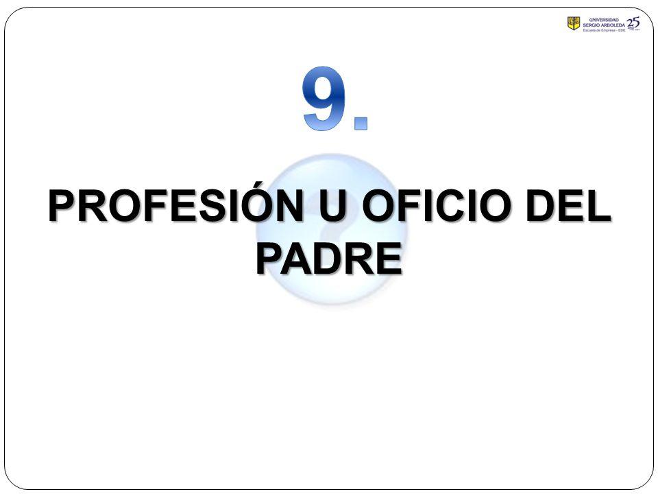 PROFESIÓN U OFICIO DEL PADRE