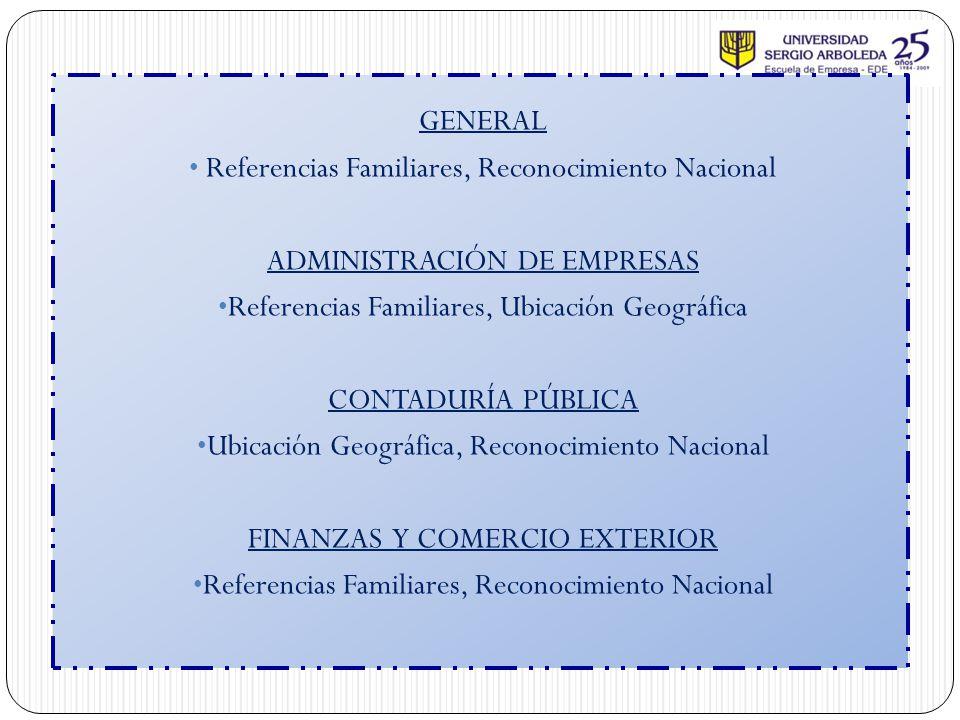 Referencias Familiares, Reconocimiento Nacional