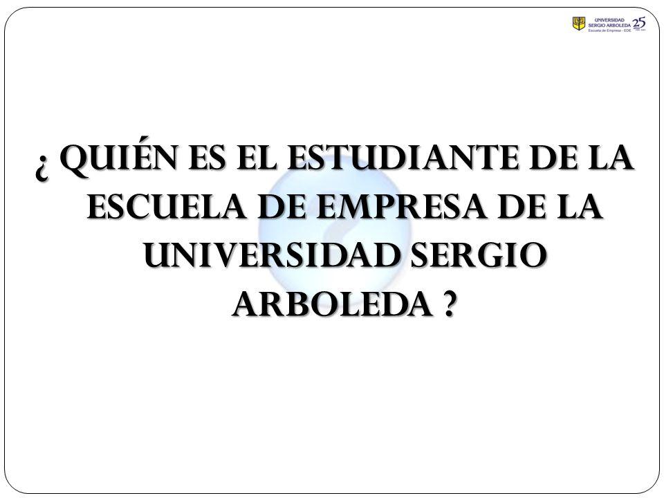 ¿ QUIÉN ES EL ESTUDIANTE DE LA ESCUELA DE EMPRESA DE LA UNIVERSIDAD SERGIO ARBOLEDA