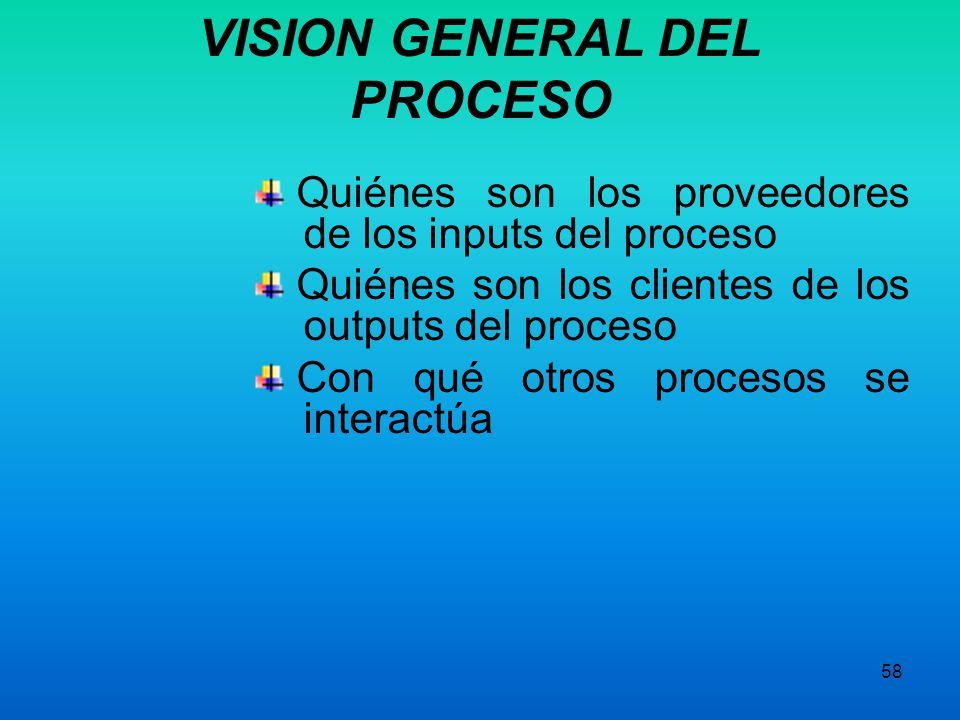 VISION GENERAL DEL PROCESO