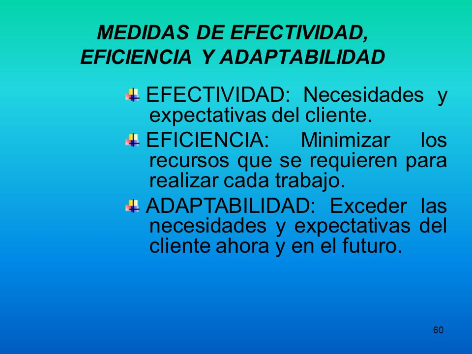 MEDIDAS DE EFECTIVIDAD, EFICIENCIA Y ADAPTABILIDAD