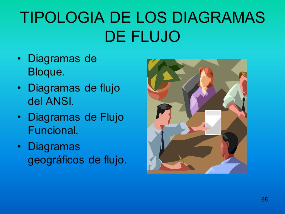 TIPOLOGIA DE LOS DIAGRAMAS DE FLUJO
