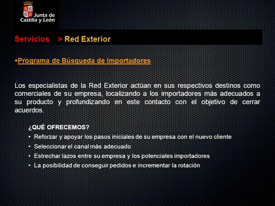 Servicios > Red Exterior Programa de Búsqueda de Importadores