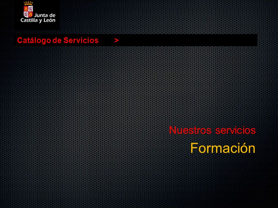 Nuestros servicios Formación Catálogo de Servicios >