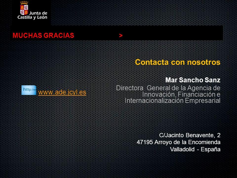 Contacta con nosotros MUCHAS GRACIAS > www.ade.jcyl.es