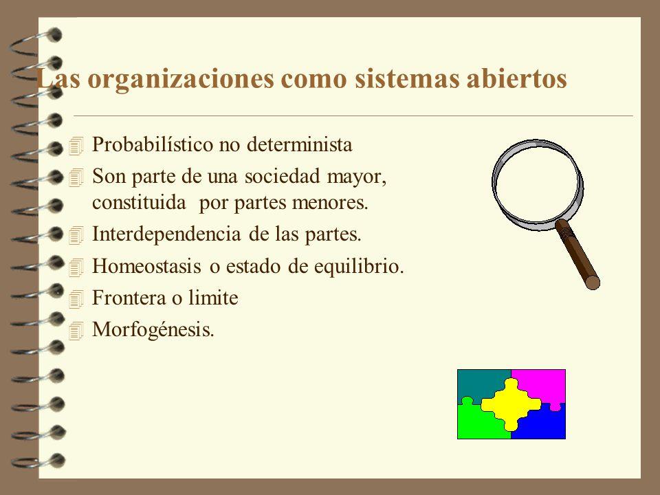 Las organizaciones como sistemas abiertos