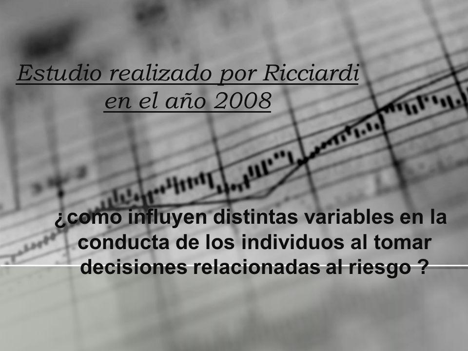 Estudio realizado por Ricciardi en el año 2008