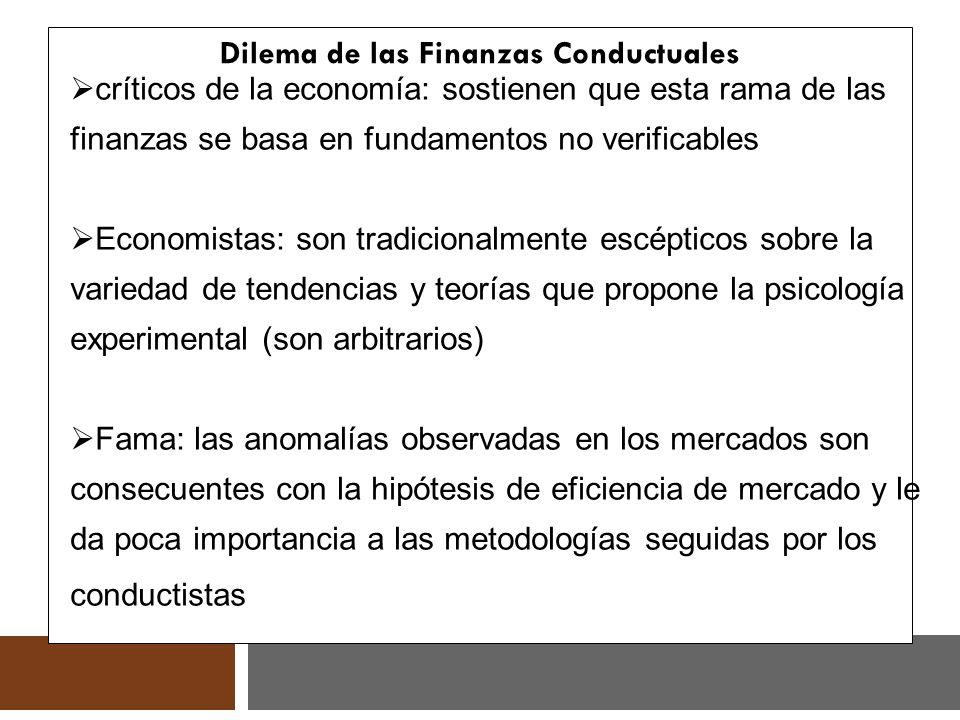 Dilema de las Finanzas Conductuales