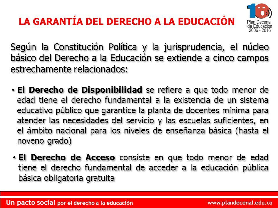 LA GARANTÍA DEL DERECHO A LA EDUCACIÓN
