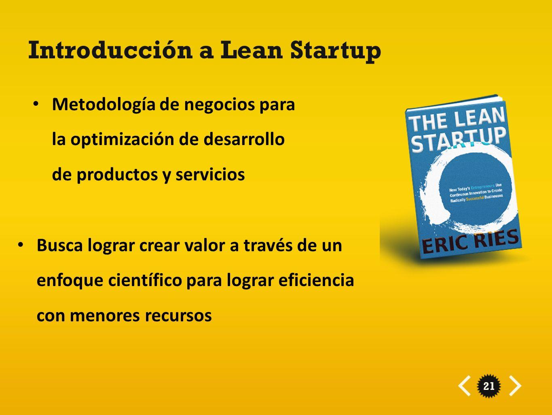 Introducción a Lean Startup